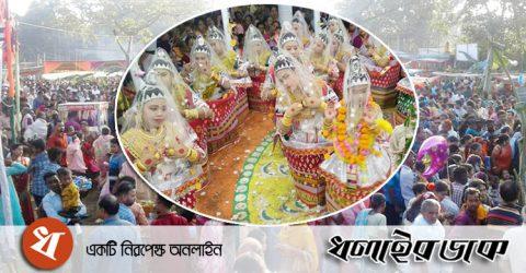 কমলগঞ্জে মণিপুরী রাসলীলার কিছু ছবি
