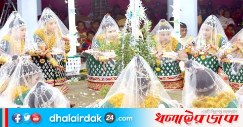 আজ সোমবার কমলগঞ্জে মণিপুরী মহারাসলীলা
