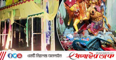 কমলগঞ্জে পূজামন্ডপের মূর্তি ভাঙচুর: ২ প্লাটুন বিজিবি মোতায়েন